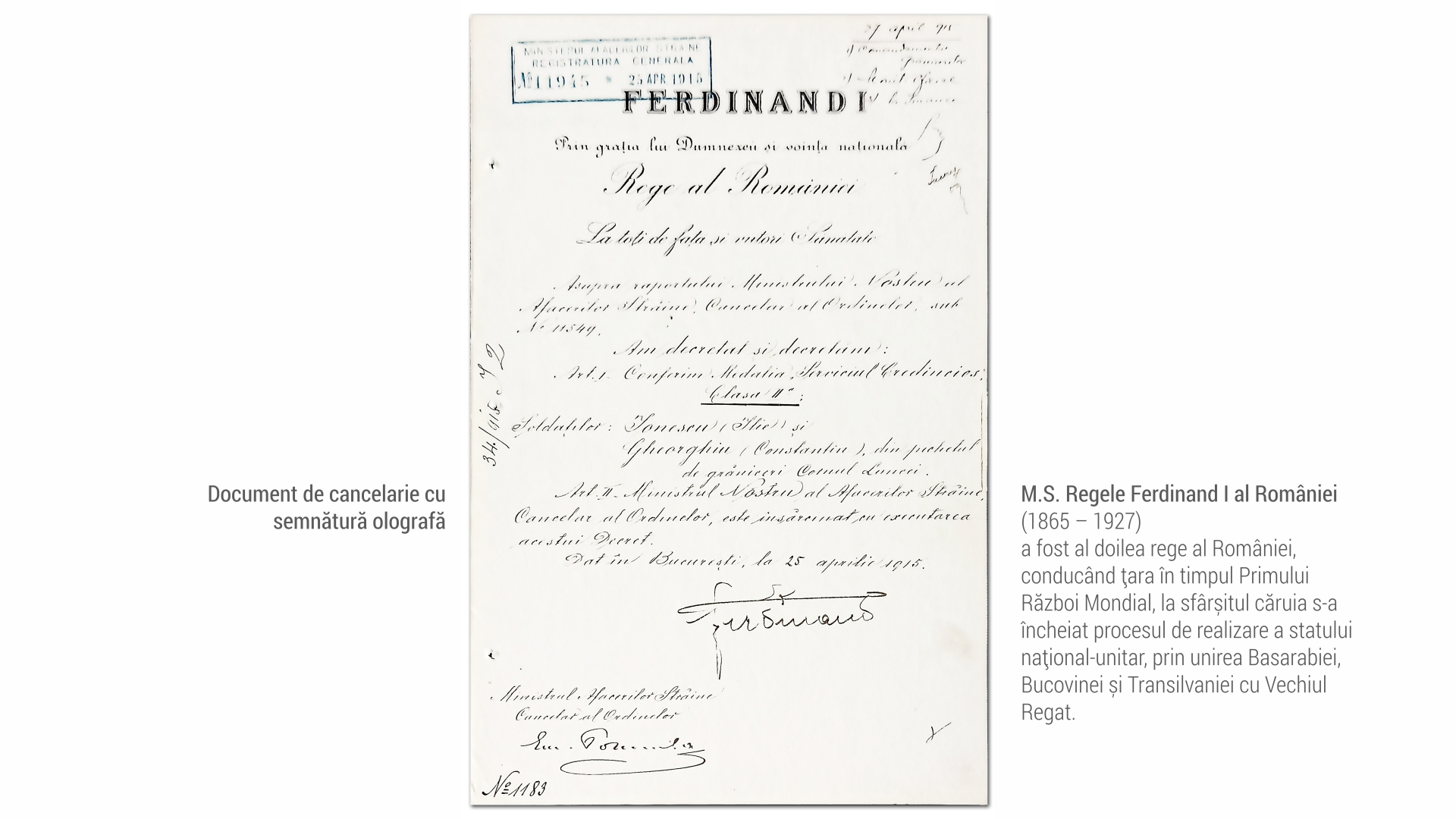 1804 MS Ferdinand - document