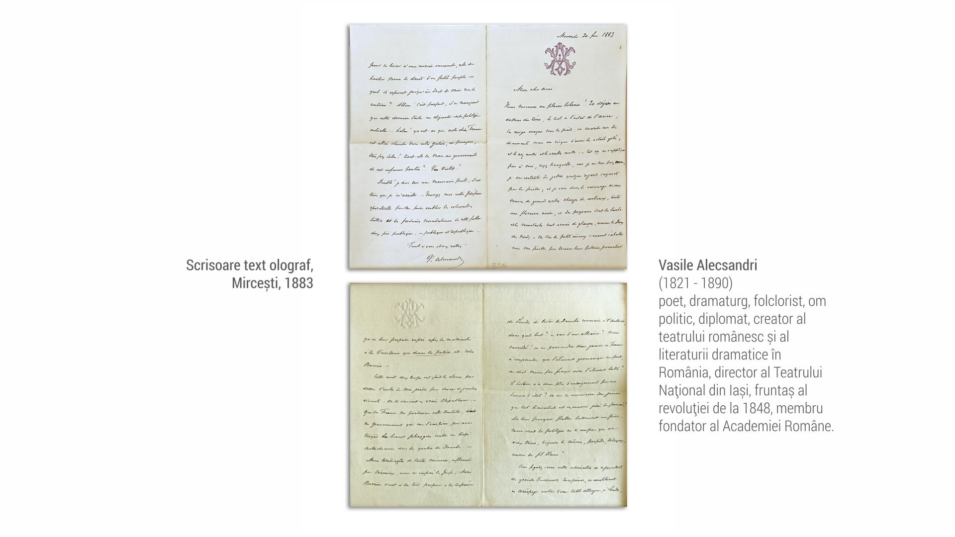 1821 Vasile Alecsandri - scrisoare