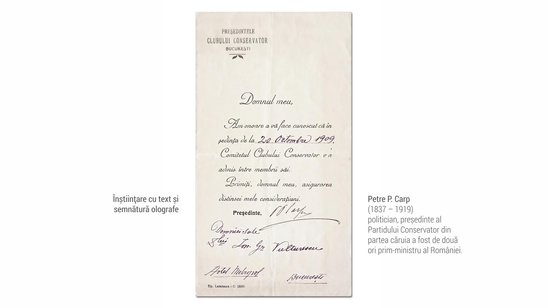 1837 P P Carp - instiintare