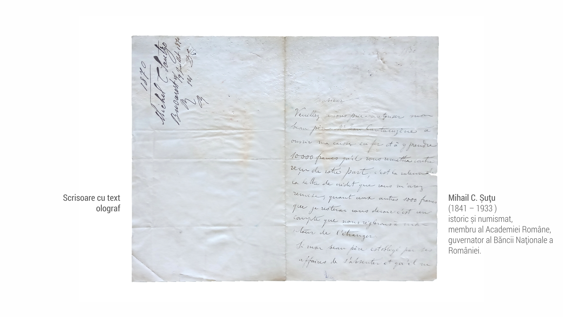 1841 Mihail Sutu - scrisoare