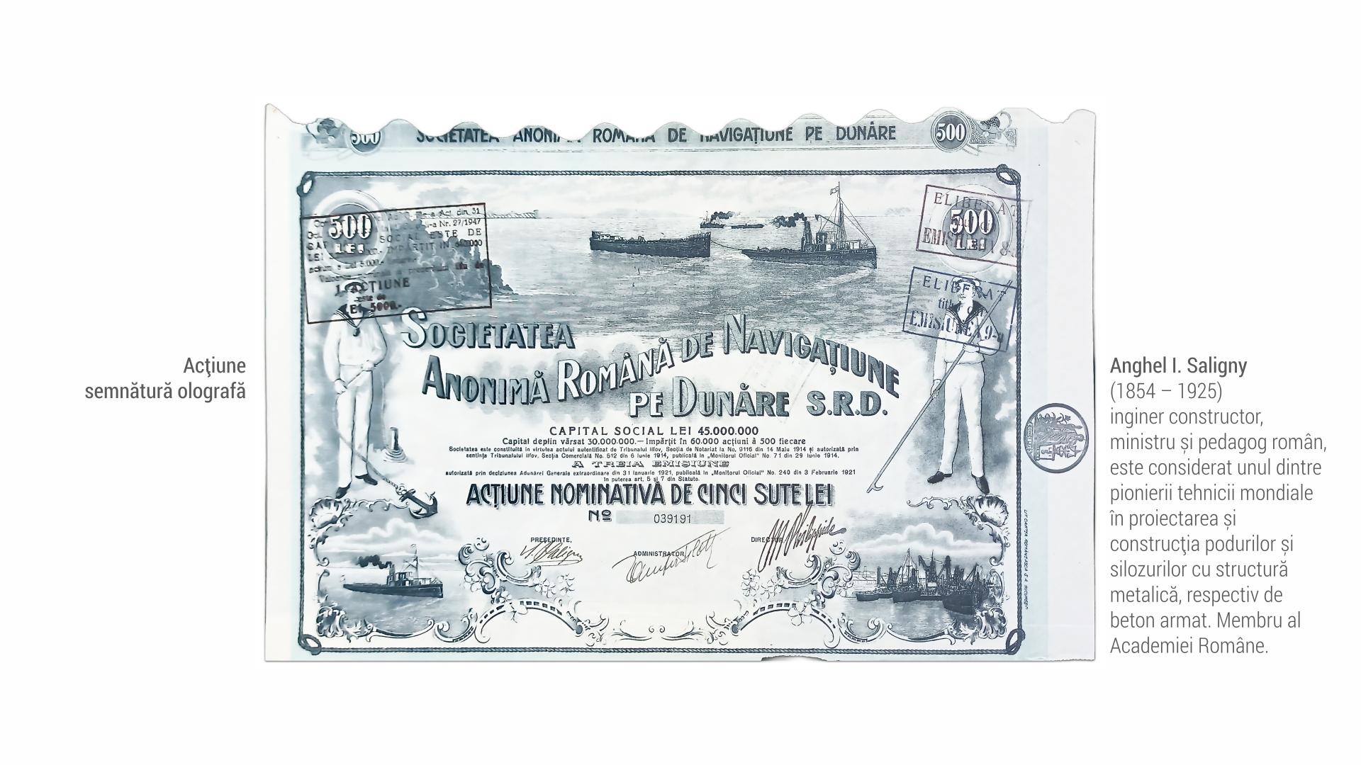 1854 Anghel Saligny - actiune