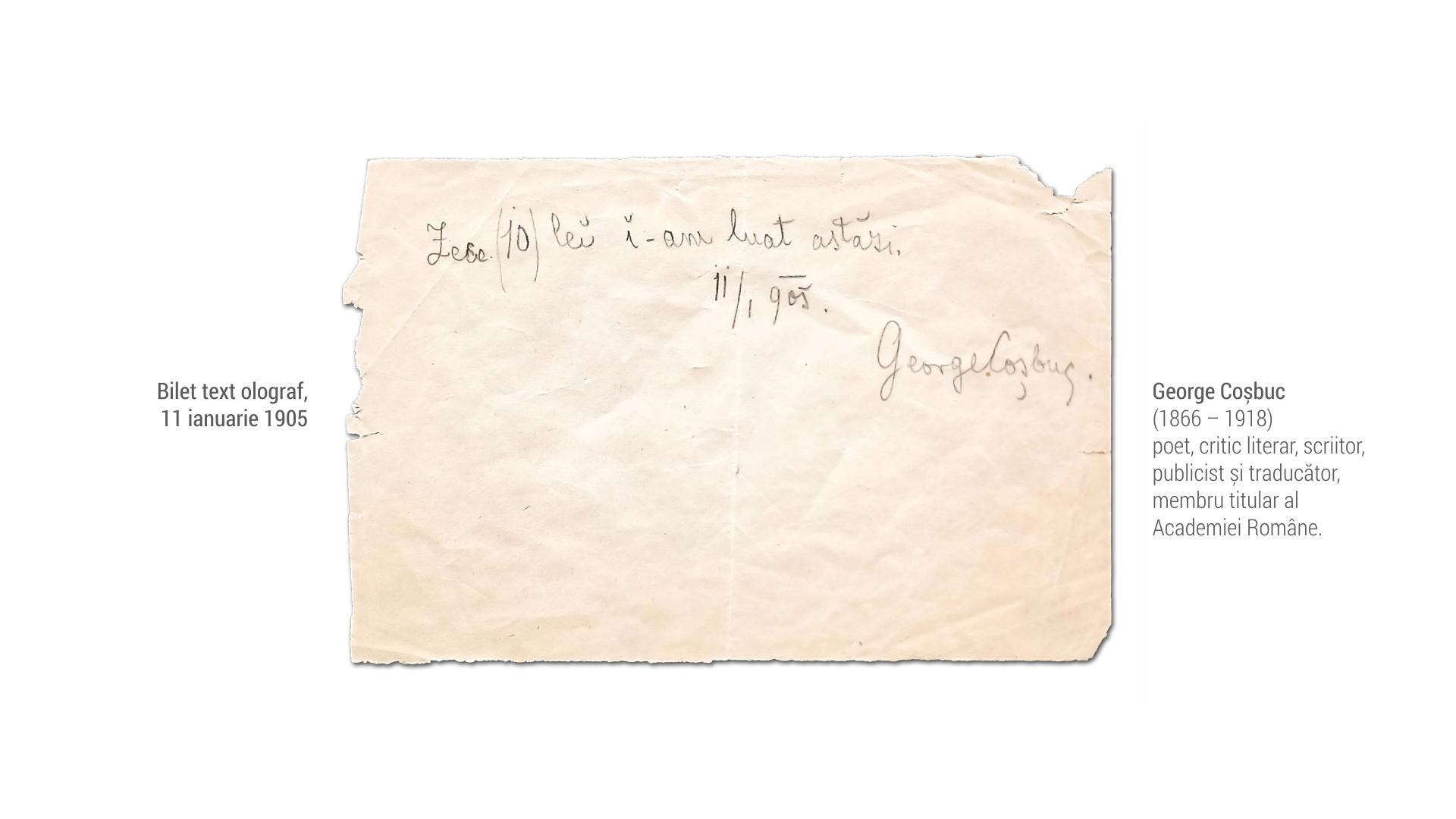 1866 George Cosbuc - bilet