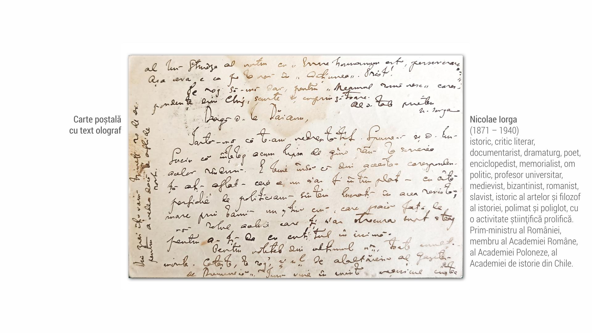 1871 Nicolae Iorga - carte postala