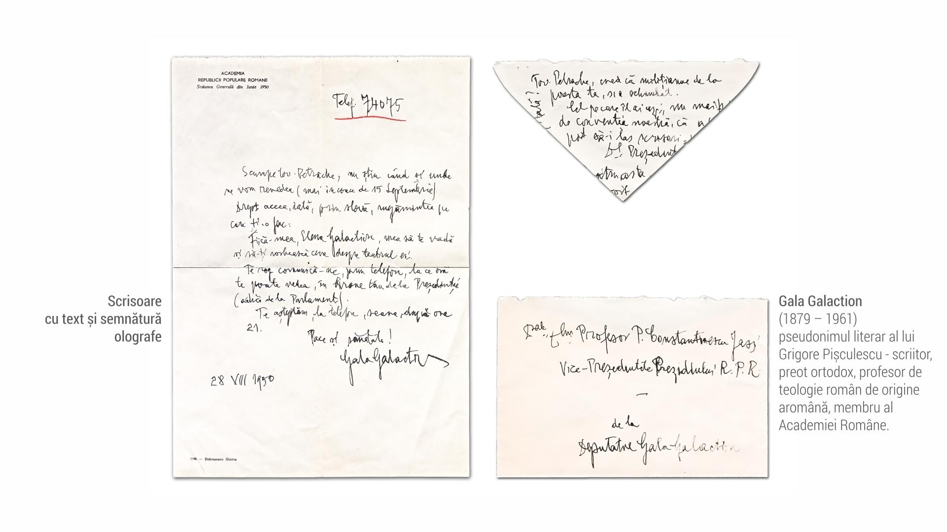 1879 Gala Galaction - scrisoare