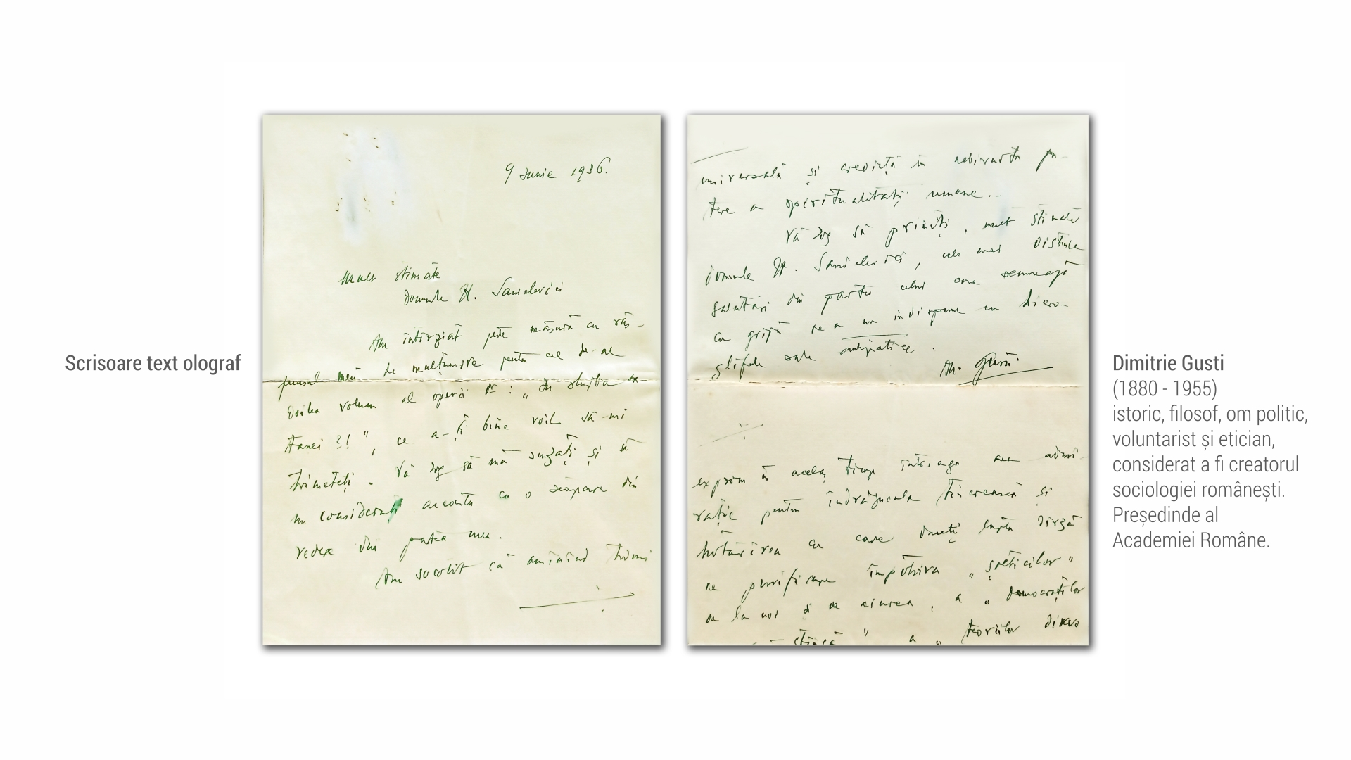 1880 Dimitrie Gusti - scrisoare