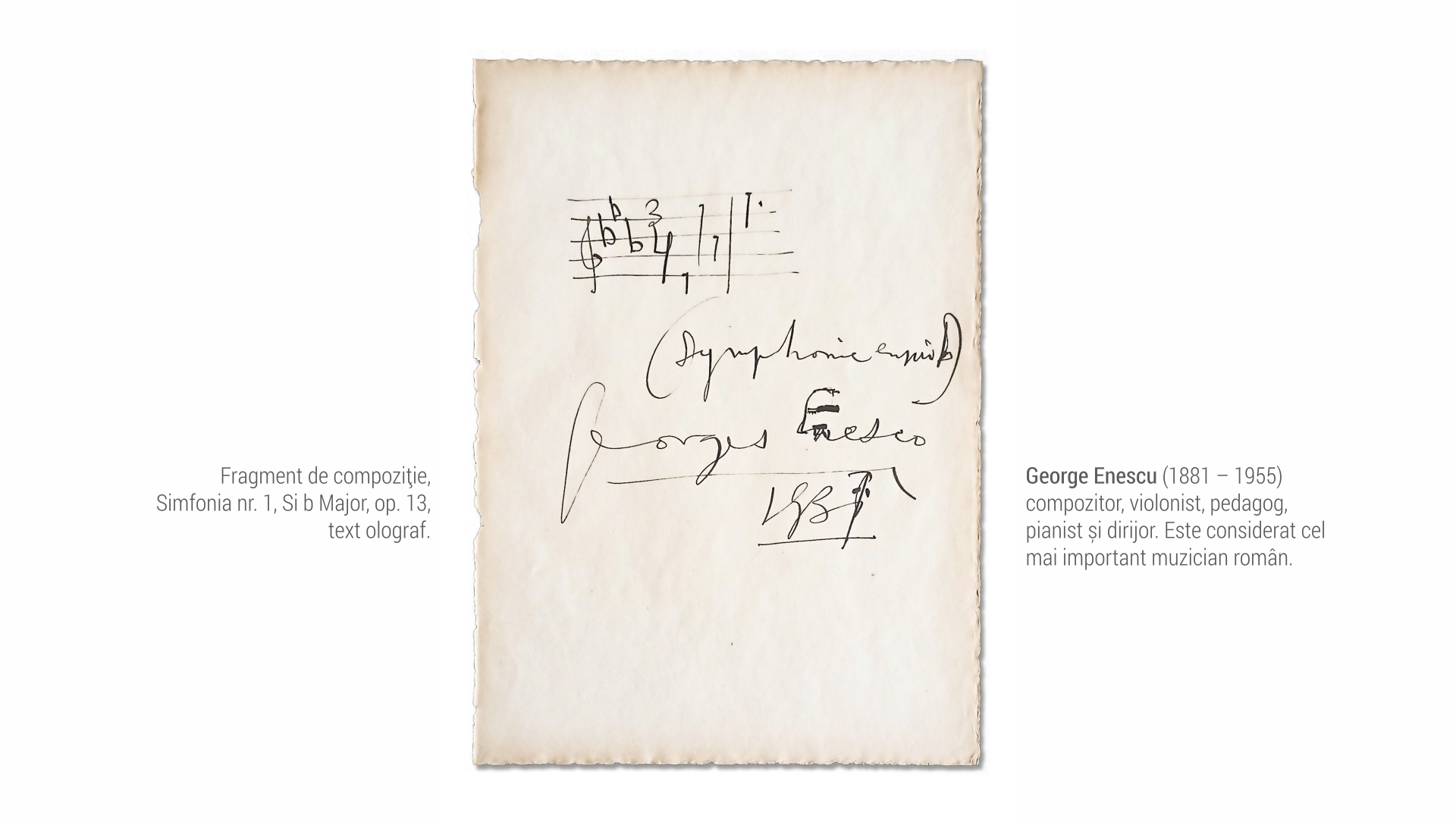 1881 George Enescu - partitura