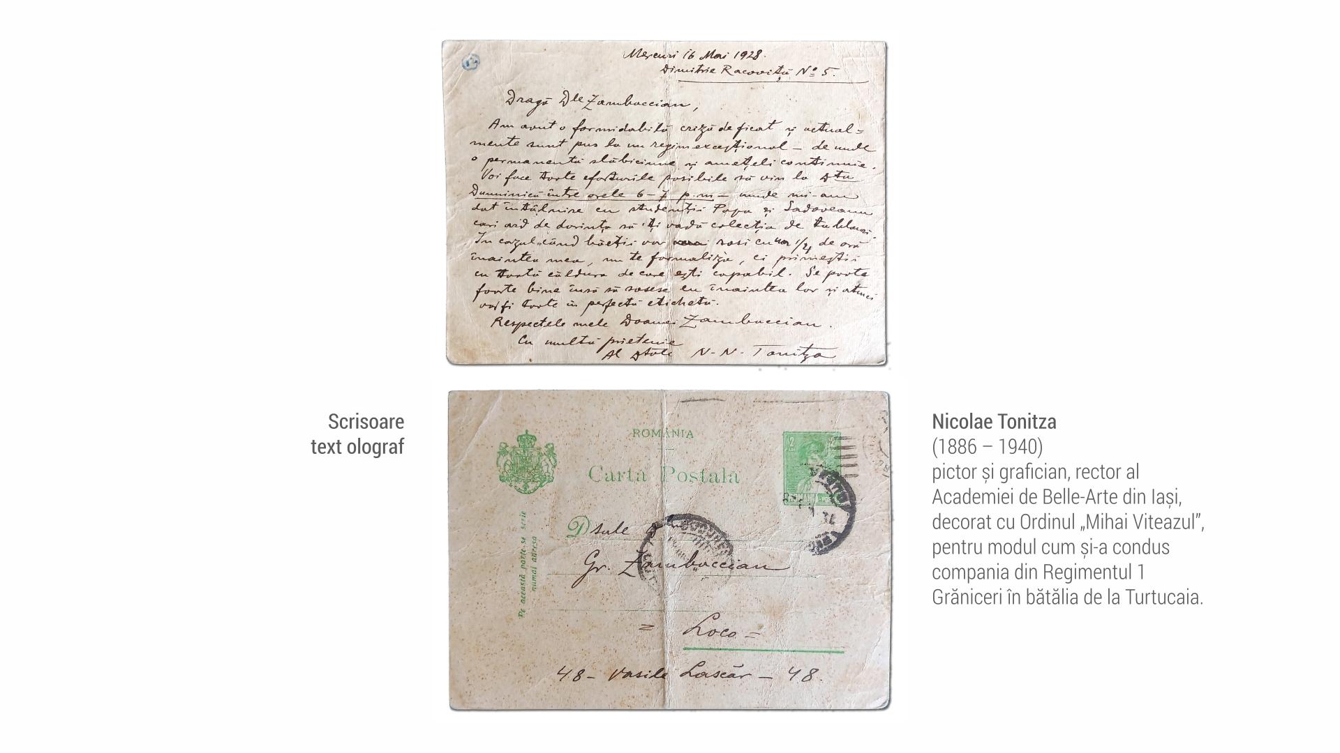 1886 Nicolae Tonitza - scrisoare