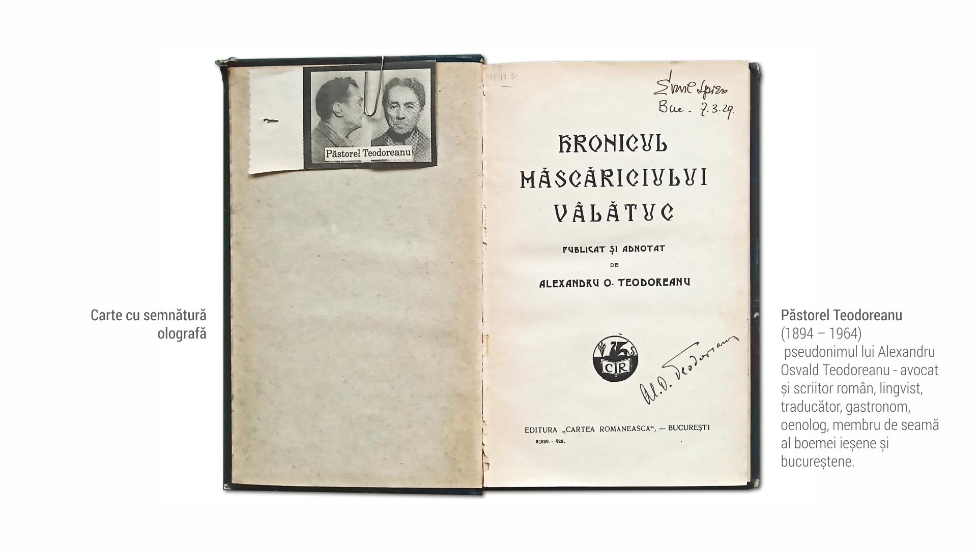 1894 Pastorel Teodoreanu - carte