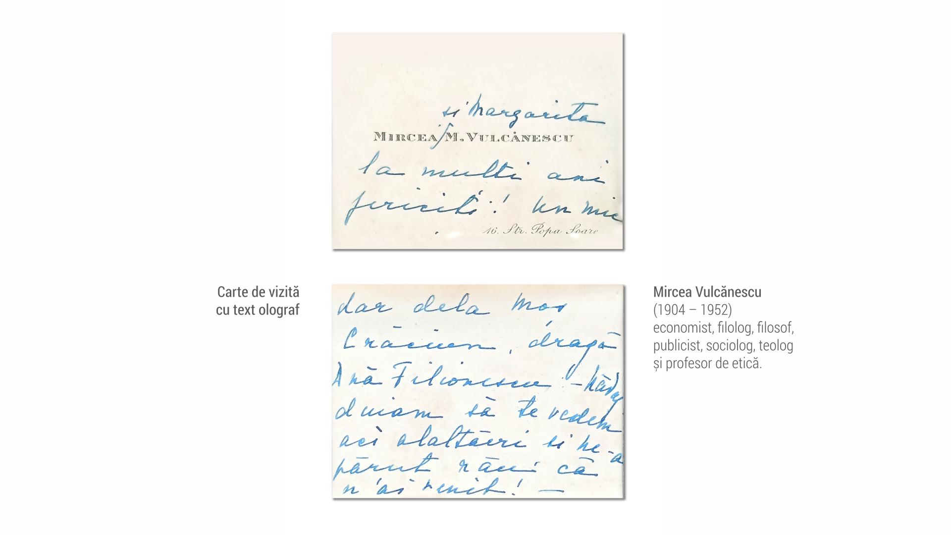 1904 Mircea Vulcanescu - carte de vizita