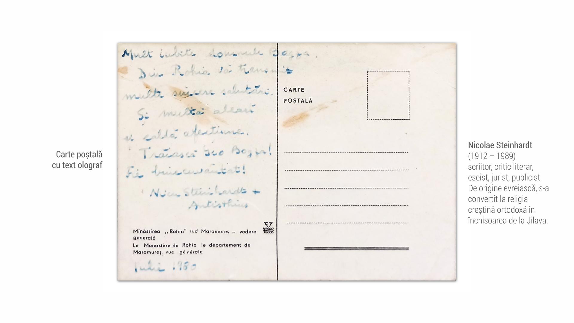 1912 Nicolae Steinhardt - Carte postala