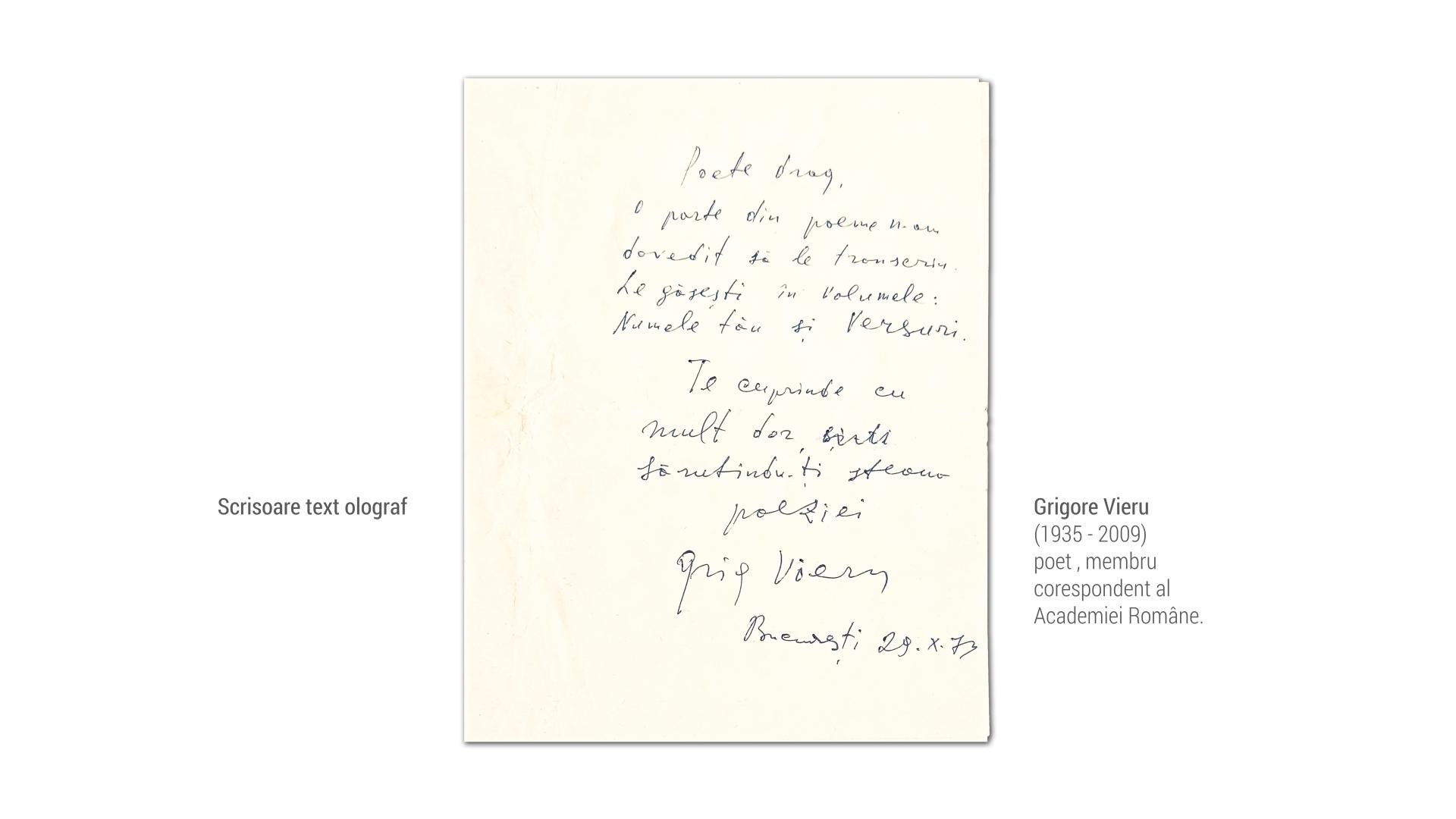 1935 Grigore Vieru - scrisoare