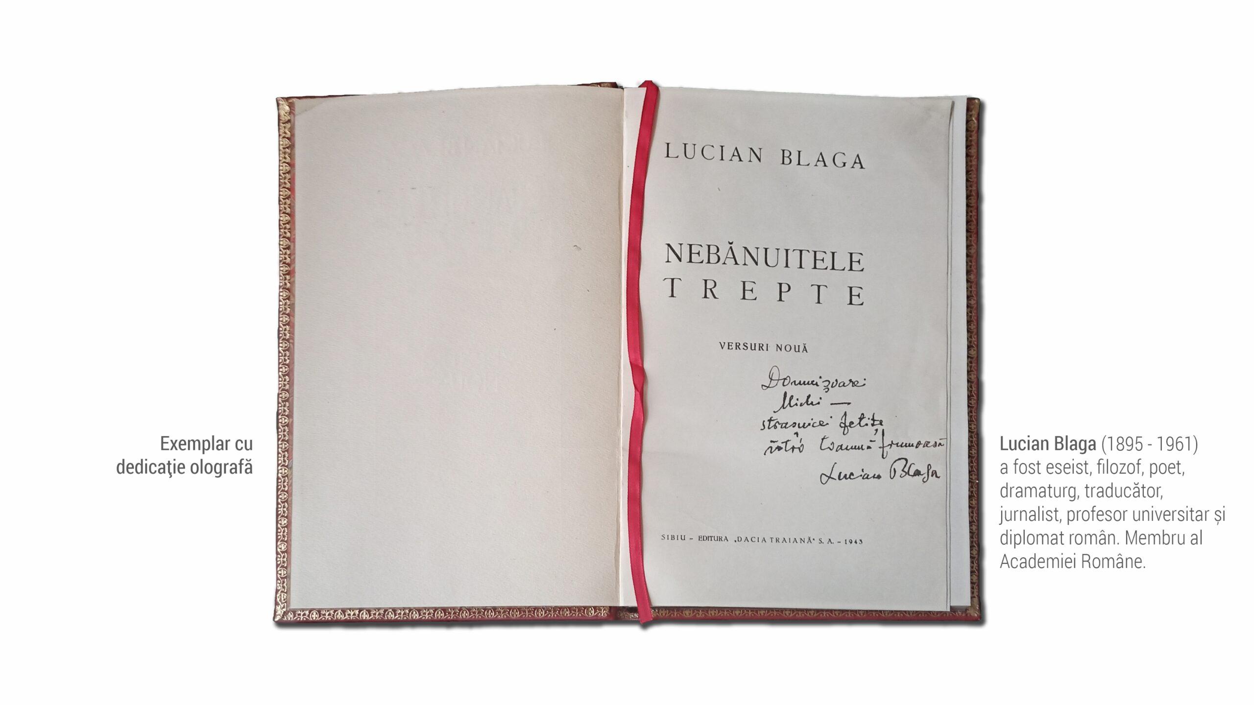 1895 Lucian Blaga - carte