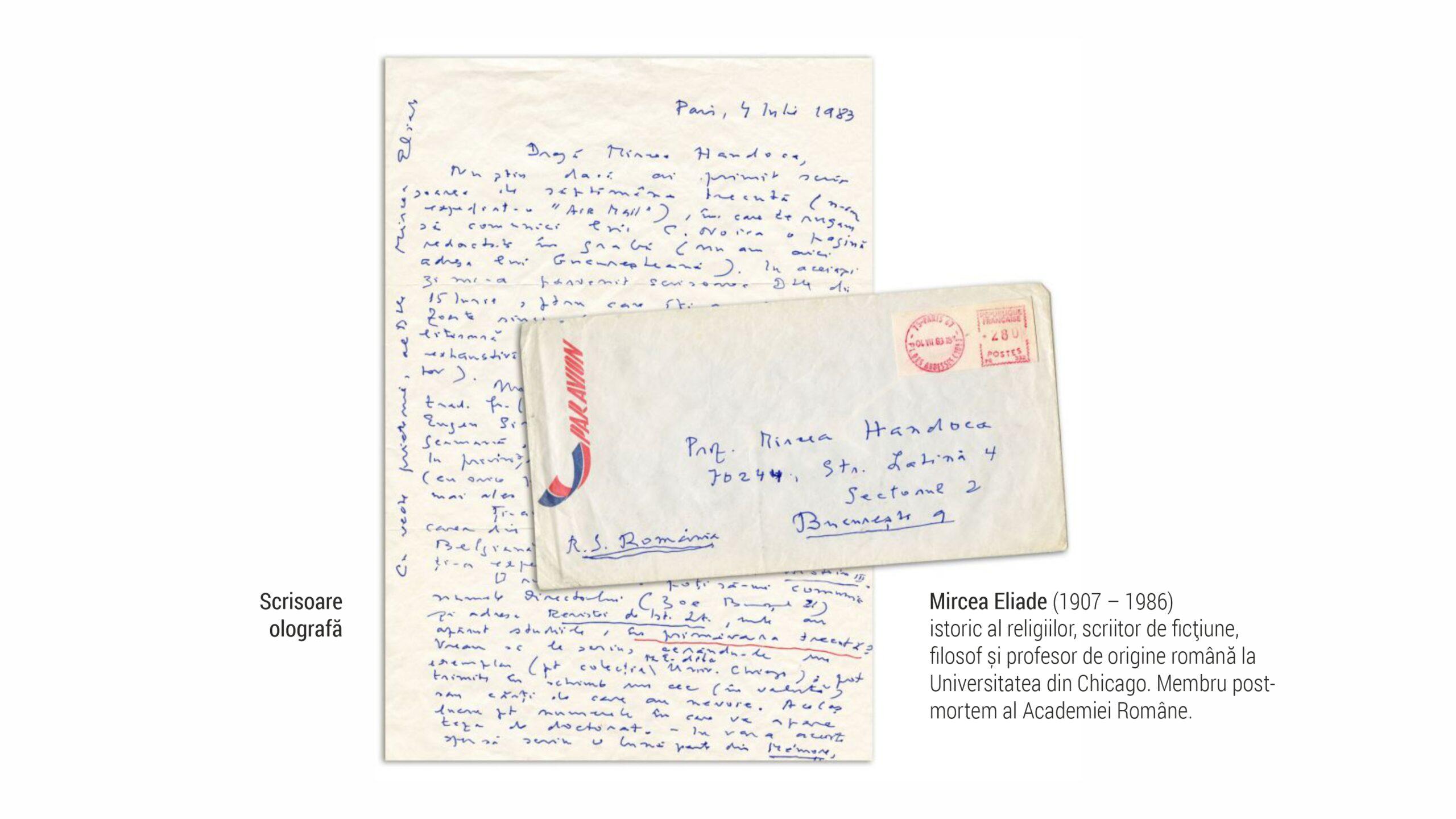 1907 Eliade - scrisoare olografa