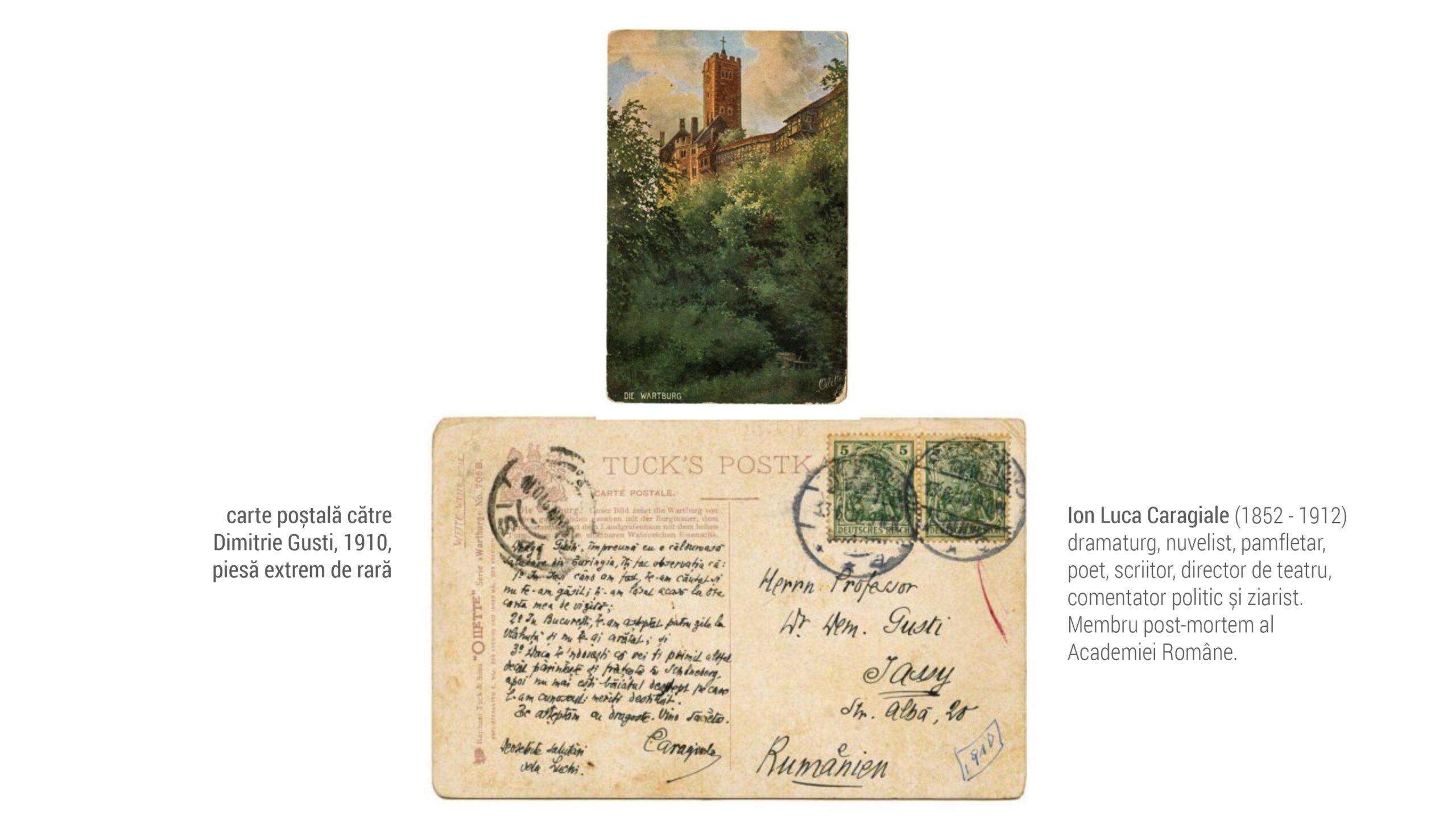 1910 Caragiale - carte postala D Gusti