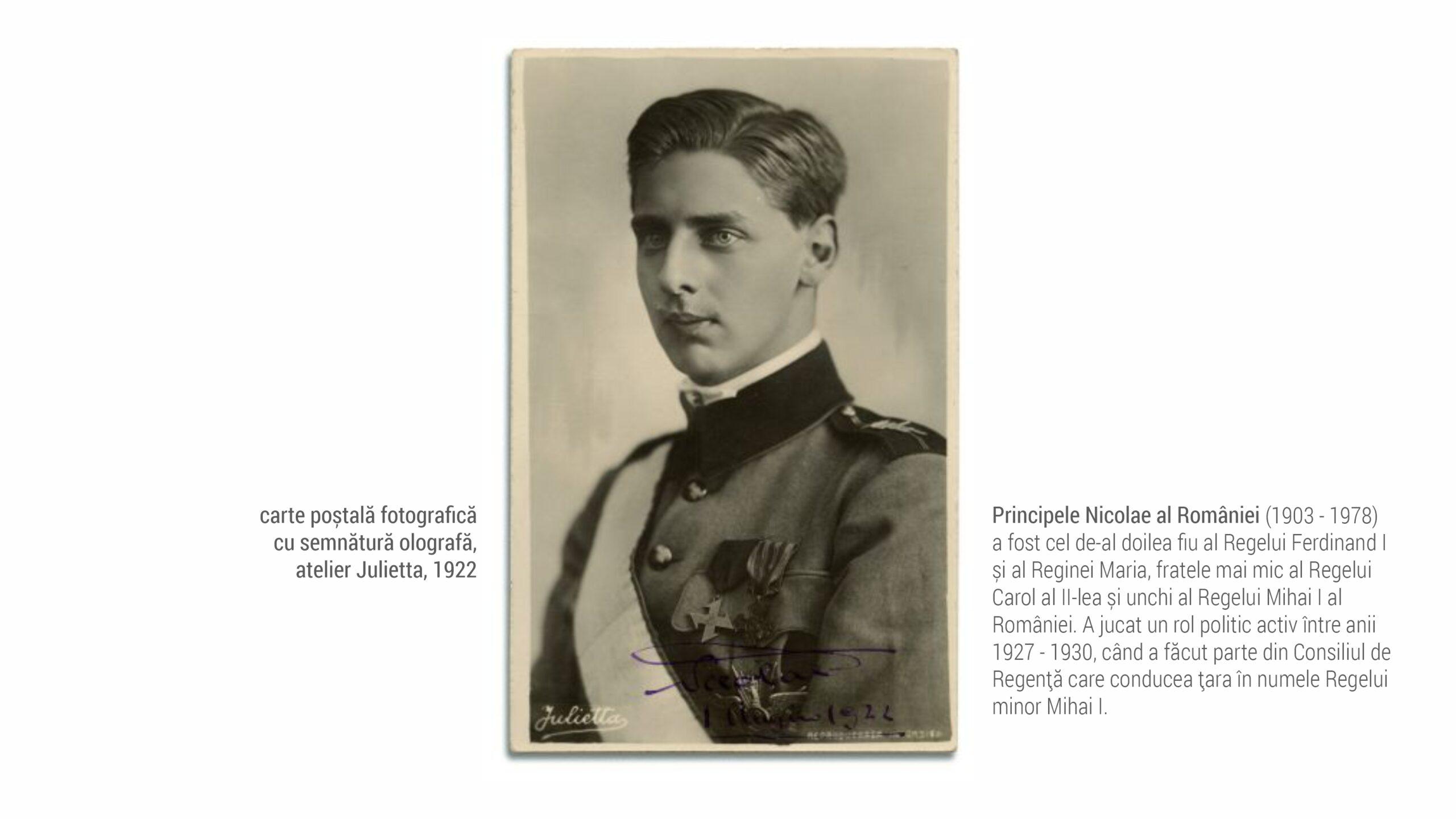 1922 Principele Nicolae - fotografie