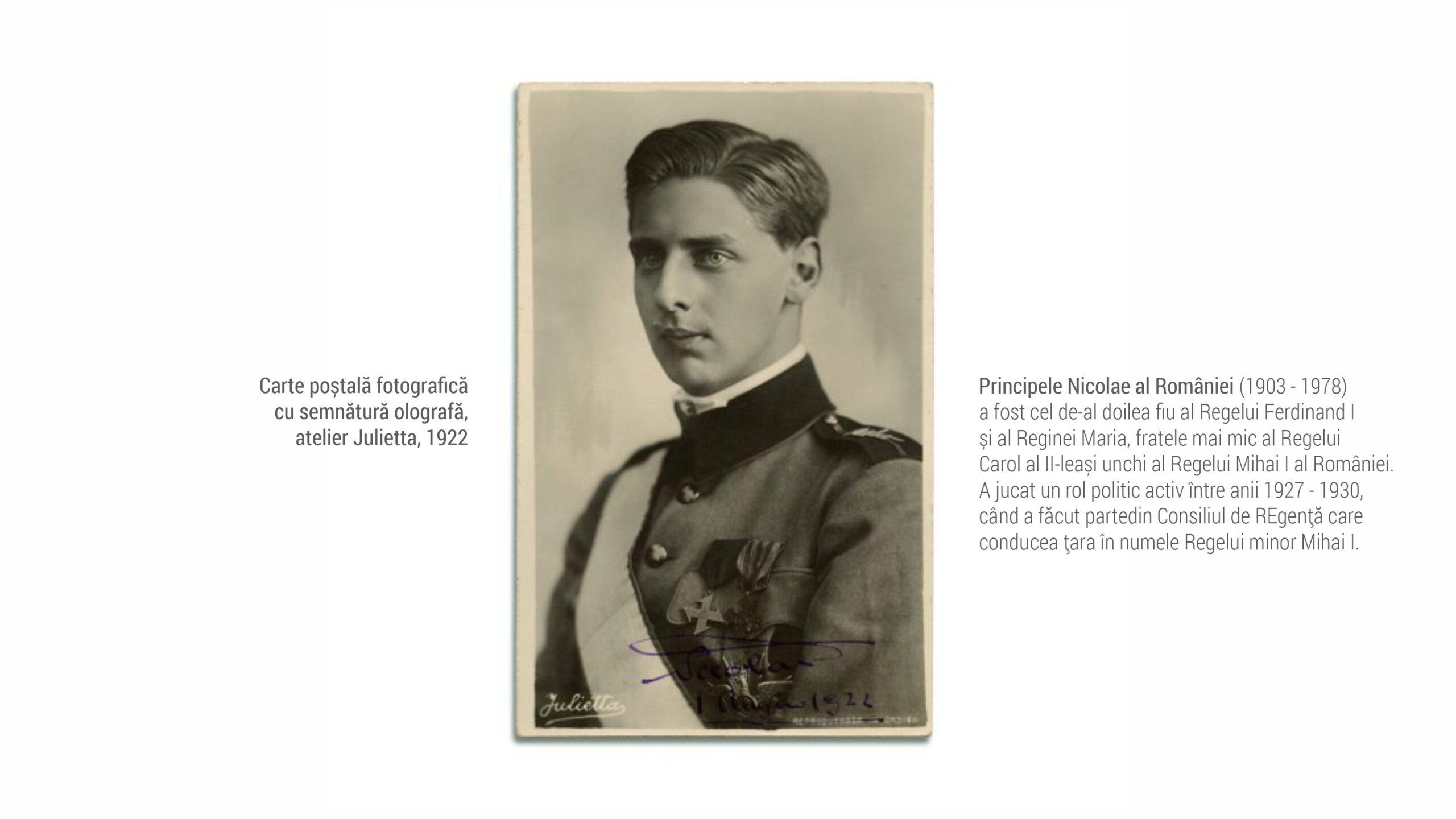 1903 Principele Nicolae - Carte postala fotografica